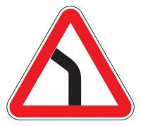 Дорожный знак 1.11.2 Опасный поворот