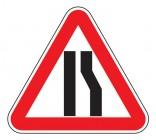 Дорожный знак 1.20.3 Сужение дороги слева