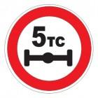 Дорожный знак 3.12 Ограничение нагрузки на ось
