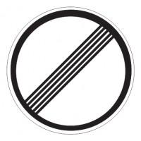 Дорожный знак 3.31 Конец зоны всех ограничений