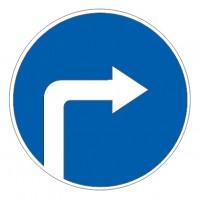 Дорожный знак 4.1.2 Движение направо