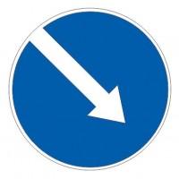 Дорожный знак 4.2.1 Объезд препятствия справа