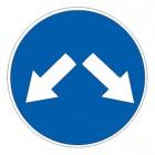 Дорожный знак 4.2.3 Объезд препятствия справа или слева