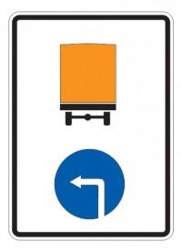 Дорожный знак 4.8.1 Направление движения транспортных средств с опасными грузами