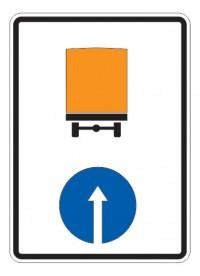 Дорожный знак 4.8.2 Направление движения транспортных средств с опасными грузами