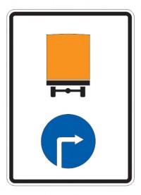 Дорожный знак 4.8.3 Направление движения транспортных средств с опасными грузами