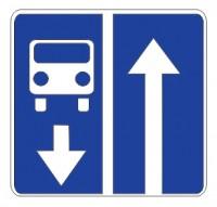 Дорожный знак 5.11 Дорога с полосой для маршрутных транспортных средств