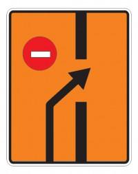 Дорожный знак 6.19.2 Предварительный указатель перестроения на другую проезжую часть