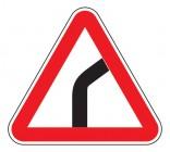 Дорожный знак 1.11.1 Опасный поворот