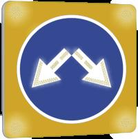 Светодиодный импульсный знак 4.2.3 на желтом фоне