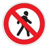 Дорожный знак 3.10 Движение пешеходов запрещено