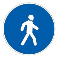 Дорожный знак 4.5 Пешеходная дорожка