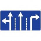 Дорожный знак 5.15.1 Направления движения по полосам