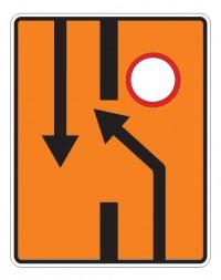 Дорожный знак 6.19.1 Предварительный указатель перестроения на другую проезжую часть