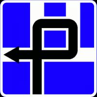 Дорожный знак 6.9.3 Схема движения
