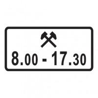 Дорожный знак 8.5.6 Время действия
