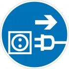 Знак безопасности «Отключить штепсельную вилку»