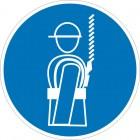 Знак безопасности «Работать в предохранительном (страховочном) поясе»