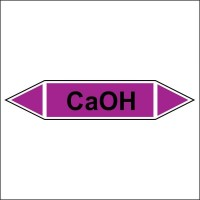 Знак безопасности «CaOH - двустороннее направление»