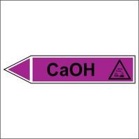 Знак безопасности «CaOH - направление движение налево»