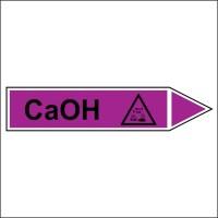 Знак безопасности «CaOH - направление движение направо»