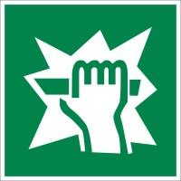 Знак безопасности «Для доступа вскрыть здесь»