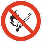 Знак безопасности «Запрещается пользоваться открытым огнем и курить»
