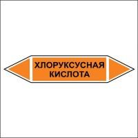 Знак безопасности «Хлоруксусная кислота - двустороннее направление»