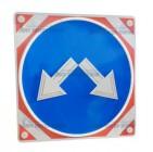 Светодиодный импульсный знак 4.2.3 на красно-белом фоне