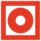 Знак пожарной безопасности Кнопка включения установок пожарной автоматики