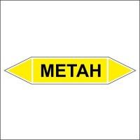 Знак безопасности «Метан - двусторонние направление»
