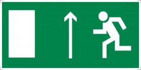 Знак безопасности «Направление к эвакуационному выходу прямо (левосторонний)»