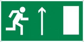 Знак безопасности «Направление к эвакуационному выходу прямо (правосторонний)»