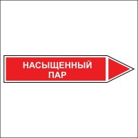 Знак безопасности «Насыщенный пар - направление движение направо»