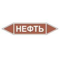 Знак безопасности «Нефть - двусторонние направление»