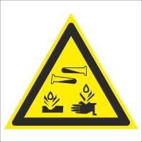 Знак безопасности «Опасно. Едкие и корозионные вещества»