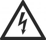 Знак безопасности «Осторожно! Эл. Напряжение (Белый фон)»