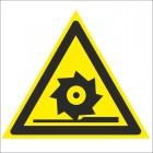 Знак безопасности «Осторожно. Режущие валы»