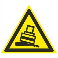 Знак безопасности «Осторожно. Возможно опрокидывание»