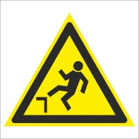 Знак безопасности «Осторожно. Возможно падение с высоты»