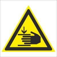 Знак безопасности «Осторожно. Возможно травмирование рук»