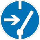 Знак безопасности «Отключить перед работой»