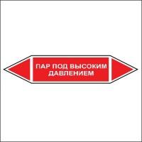 Знак безопасности «Пар под высоким давлением - двусторонние направление»