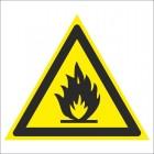 Знак безопасности «Пожароопасно. Легковоспламеняющиеся вещества»