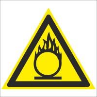 Знак безопасности «Пожароопасно. Окислитель»