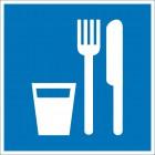Знак безопасности «Пункт (место) приема пищи»