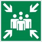 Знак безопасности «Пункт (место) сбора»