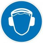 Знак безопасности «Работать в защитных наушниках»