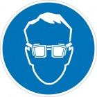 Знак безопасности «Работать в защитных очках»