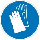 Знак безопасности «Работать в защитных перчатках»